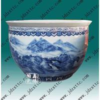 供应青花陶瓷大缸 陶瓷鱼缸价格