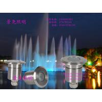 嵌入式圆形七彩LED水底灯 高品质防水水下工程灯
