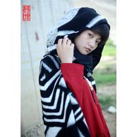 琴哩****设计女巫羊毛羊绒斗篷大衣外套 罗马格风衣披肩女文艺