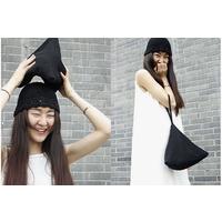 琴哩 原创设计 黑色针织毛线小拎包 手挽包 粽子包 包邮
