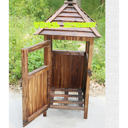 实木小区垃圾桶户外景观防腐木垃圾箱旅游景点街道环保垃圾桶公园