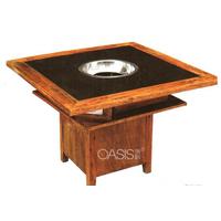 中式风格实木火锅桌厂家生产制造
