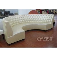 专业生产餐厅卡坐弧形沙发制造商