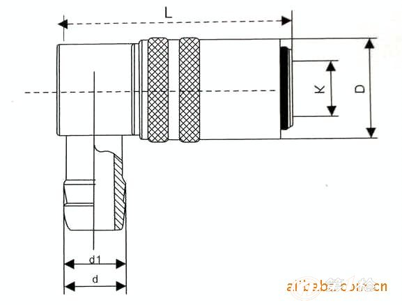 供应 注塑模具 配件 黄铜 德式 90度 快速水咀 宝塔 接头 z-9-l3