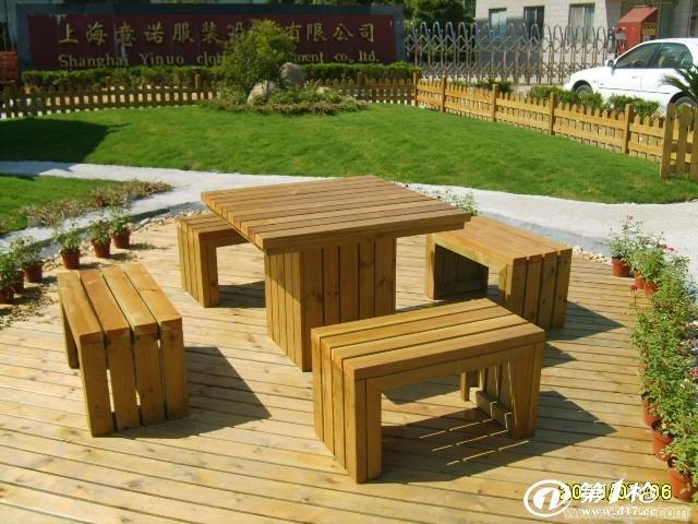 户外防腐木桌椅