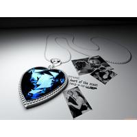 非梦饰威妮华明星款3D泰坦尼克号海洋之星项链蓝色大颗水晶