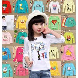 珲春市厂家批发秋季童装长袖T恤儿童服装关爱小孩健康成长好衣服