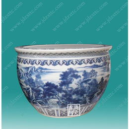 供应青花陶瓷大缸 摆件陶瓷鱼缸价格