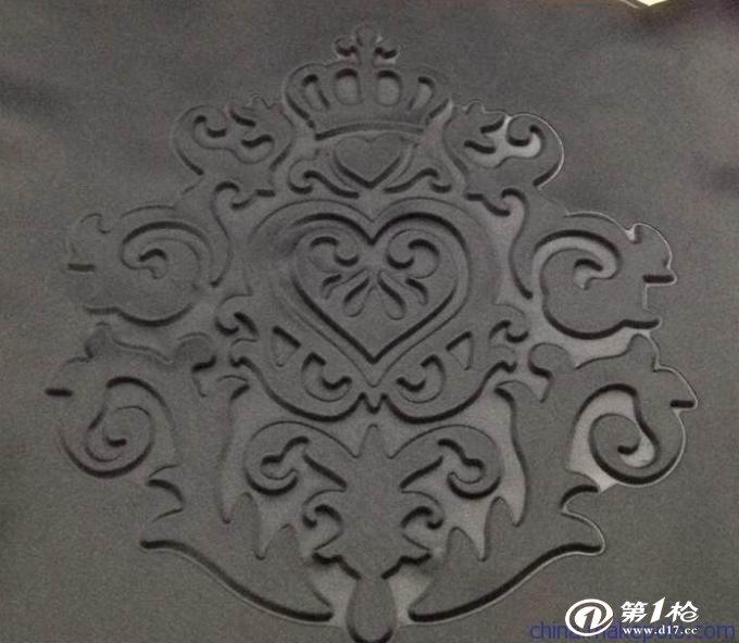 广州压花加工厂 3d立体压花 服装 面料 皮革压花加工