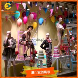 秋冬季橱窗气球道具 商场酒店餐厅酒吧装饰气球热气球玻璃钢道具