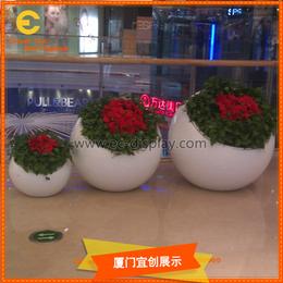 商场酒店餐厅酒吧会所异形简易玻璃钢花缸花瓶花器制作厂家