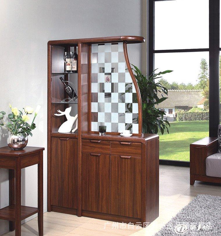 实木家具客厅家具实木间厅柜客厅屏风中式玻璃间厅柜