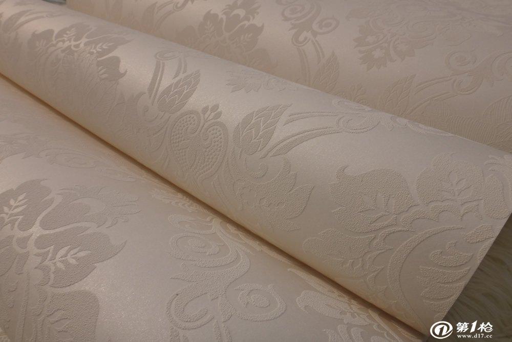 欧式素雅经典风格大马士革无纺布墙纸客厅卧室自然环保材质更时尚