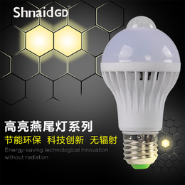 LED灯泡E27螺口e14节能灯5WLED球泡暖白黄超亮光源