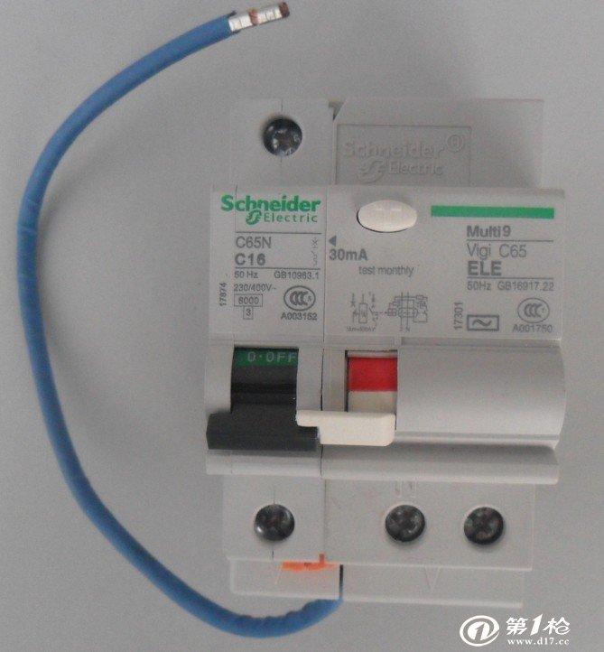 空调线漏电保护器接线图
