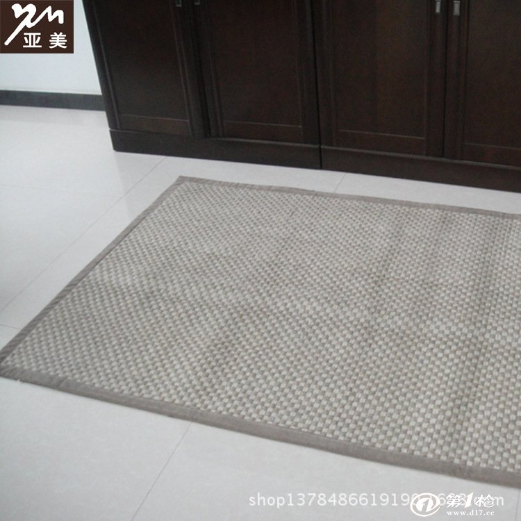 用布条编织长方形地垫图解