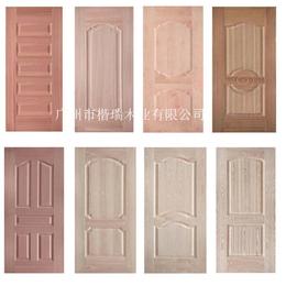 沙比利天然实木皮模压门板 木门模压门板