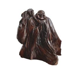 古沉木雕刻艺术品 JXLYQ00024 笑佛