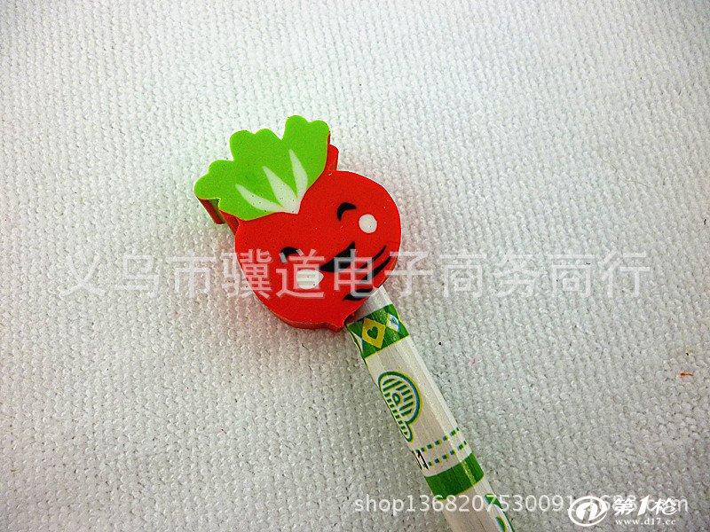 木质带橡皮头卡通动物造型铅笔创意文具小礼品奖品hb