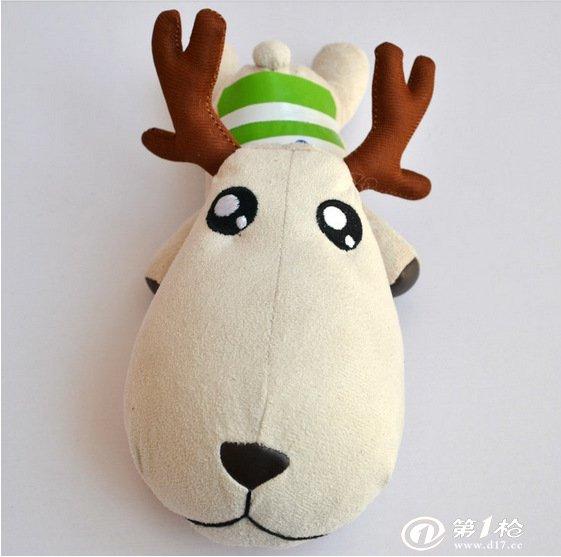 可爱小鹿汽车饰品 玩具 内含竹炭 一鹿平安毛绒玩具特价批发供应