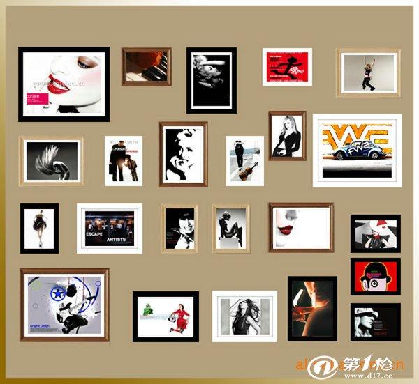 相框墙安装方法_安装图纸相框墙安装图纸照片墙相片墙安装示意图简易清楚大方安装