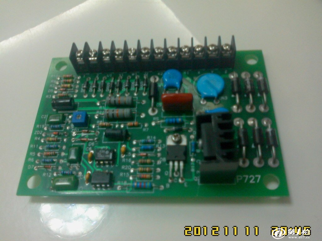 发电机 电路板 调压板avr p727调压器 avr汽油发电机电路板