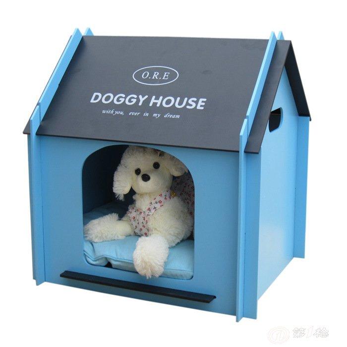 运动户外 宠物及宠物用品 宠物窝,笼 批发高档木制宠物屋狗房子猫咪