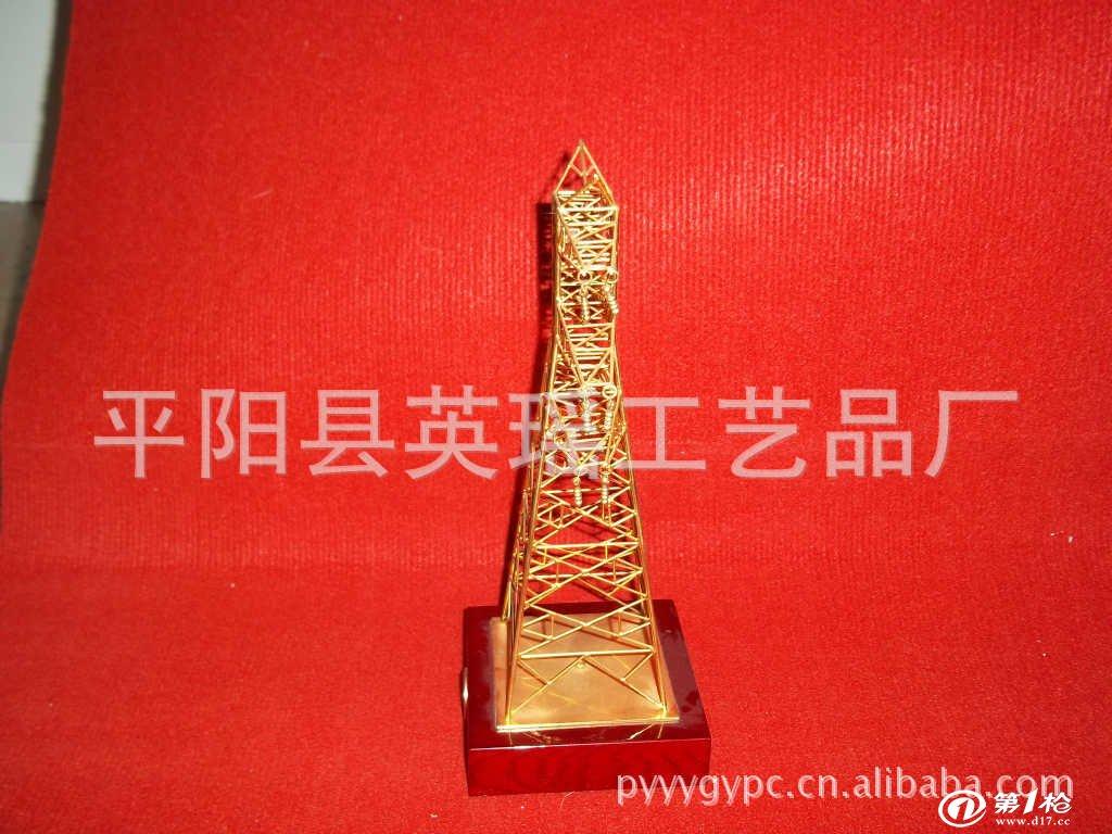 形象逼真的高压线塔实物金属模型