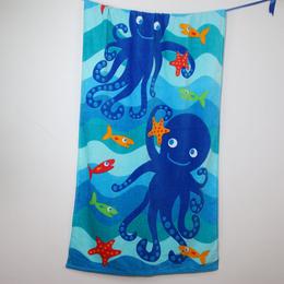 新品上市 纯棉活性印花沙滩巾浴巾 割绒吸水沙滩巾 厂家批发