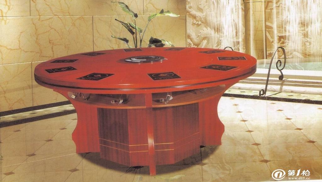 实木电动餐桌,电动圆桌,电动火锅桌,餐桌椅,酒店客房家具