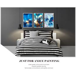 供应厂家直销木亚muya名家朱德群现代欧式抽象客厅有框装饰画
