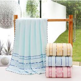 厂家直销纯棉布艺浴巾 超细纤维锁边印花浴巾 外贸出口吸水浴巾