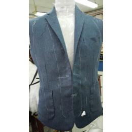 西服量身定制蓝色纯色西服