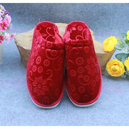 海棉拖鞋纯色压花加厚棉拖鞋批发泡沫白底棉拖鞋批发