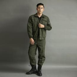 军绿色纯户外棉新款长袖套装 缩略图