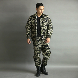 秋冬新款纯棉防寒外套迷彩训练服劳保工作服套装可定做缩略图