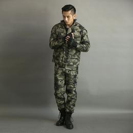 新款工作服长袖迷彩户外运动作训服劳保服套装男可定制批发