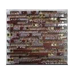 盛世朝歌品牌<em>水晶玻璃</em><em>马赛克</em><em>金箔</em>长条,电视背景,厨房,卫浴凹凸
