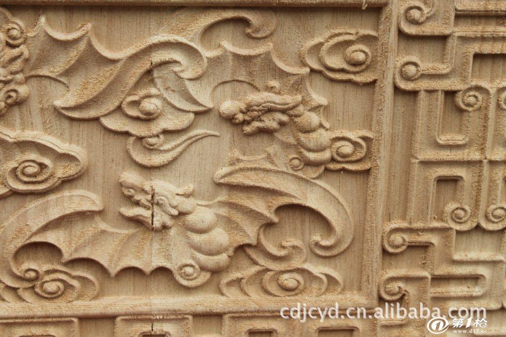 来料加工机械制作木雕工艺吉祥蝙蝠壁画