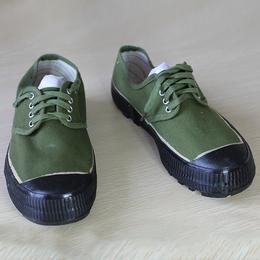 新款军绿色帆布军解放鞋