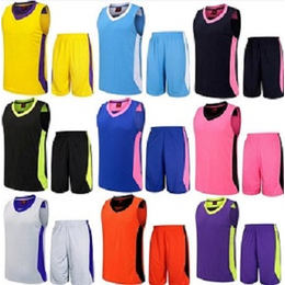 定做热转印运动训练队衣渐变色速干比赛篮球服定制