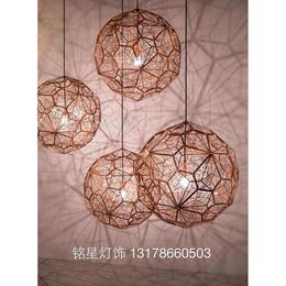 不锈钢球钻石球吊灯饰简约现代灯具蚀刻金色