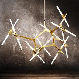 后现代创意树型客厅灯餐厅别墅人字型树杈吊灯树枝大气