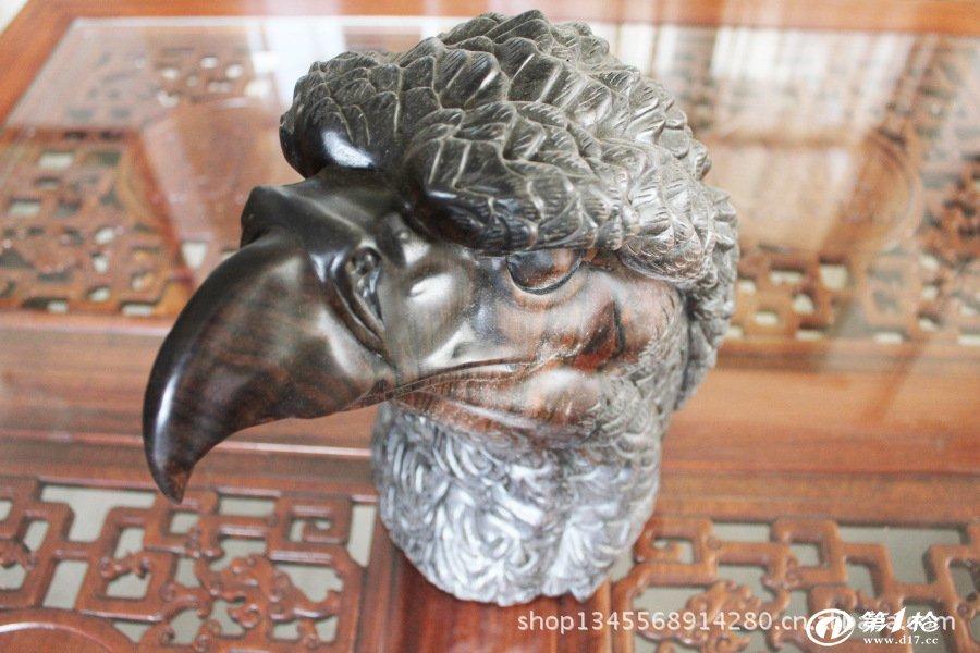 优质供应 大叶檀鹰头 优质塑像 木质精品 动物雕刻