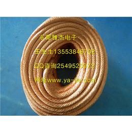 16平方 红圆白圆 透明PVC包塑铜绞线 防雷接地线 导电带