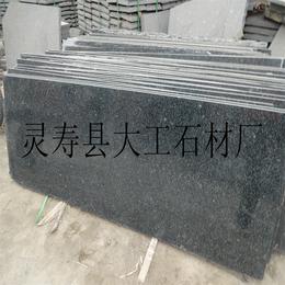 厂家专业定做绿色花岗岩石材 森林绿碑冒 异形石材生产