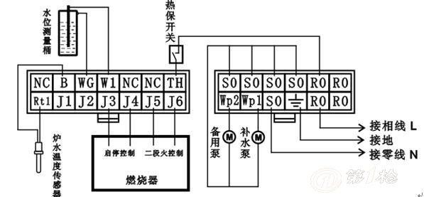 二段火热水炉控制器接线图