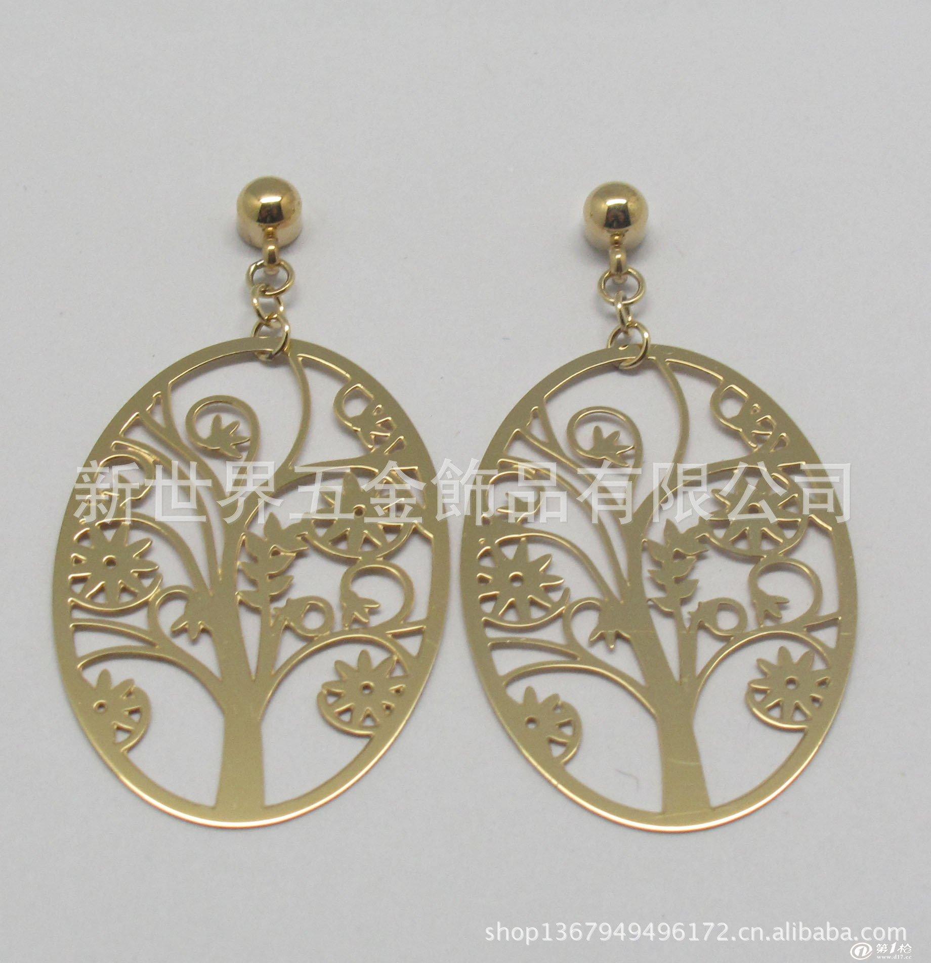 现货复古不锈钢饰品耳环 环保电镀彩色蝴蝶精美图案女式钛钢耳环