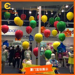 供应酒店酒吧餐厅KTV软装道具定制吊挂玻璃钢气球道具制作厂家