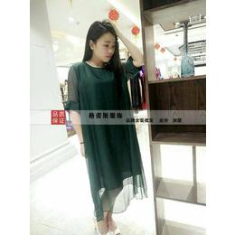 16年高端真丝拼铜氨丝连衣裙 原创品牌女装尾货集中地